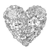 Toy for coloring book Stock Images