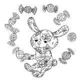 Toy for coloring book Royalty Free Stock Photography