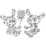 Toy for coloring book Royalty Free Stock Images