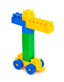 Toy construction hoisting crane Royalty Free Stock Photography