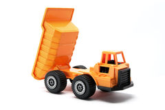 Toy Construction Truck. On White Background Stock Photo