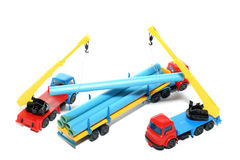 Toy construction works Royalty Free Stock Photo