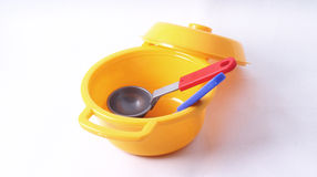 Toy cooking pot Royalty Free Stock Photography