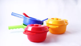 Toy cooking pot Royalty Free Stock Photos