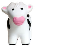 Toy Cow 1. Toy cow made of foam, isolated on a white background Stock Images