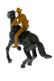 Toy cowboy on horse Stock Photos