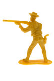 Toy cowboy with rifle Stock Photos