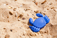 Toy crab on the beach Stock Photography