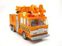 Toy Crane. On White Background Royalty Free Stock Photo