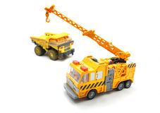 Toy Crane And Dump Truck Stock Photography