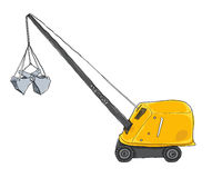 Toy Crane Metalcraft Metal Craft Minn Clam String Cable Arkivfoto