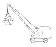 Toy  Crane  Mound Metalcraft Metal Craft Minn  Clam String Cable Stock Photo