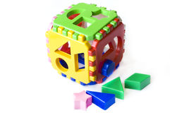 Toy cube puzzle. Royalty Free Stock Photo