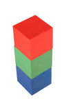 Toy cube tower Royalty Free Stock Images