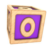 Toy cube zero. 3d illustration of toy cube with zero sign on it Stock Photo