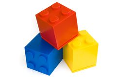 Toy cubes. Colorful cubes on white background Stock Images