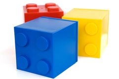Toy cubes. Colorful cubes on white background Royalty Free Stock Image