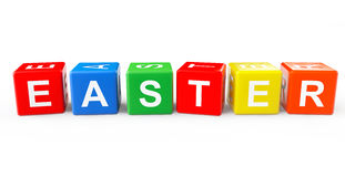 Toy cubes as Easter sign Stock Photos