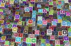 Toy Cubes Surface Lizenzfreies Stockbild