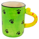 Toy Cup. Toy Cat Cup For Children Isolated On White Stock Photos