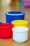 Toy cups Stock Images