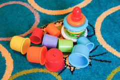 Toy cups Royalty Free Stock Photo
