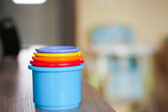 Toy cups Stock Image