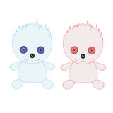 Toy cute monsters fire and ice. Stock Photography