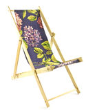 Toy Deckchair on White Background Royalty Free Stock Image