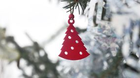 Toy Decoration Winter Spruce Hanging On The Christmas Tree Christmas New Year Stock Photography