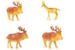 Toy deer made of plastic Stock Photography