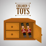 Toy design, childhood and game concept Stock Image