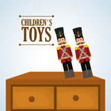 Toy design, childhood and game concept Royalty Free Stock Images
