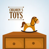 Toy design, childhood and game concept Royalty Free Stock Photos