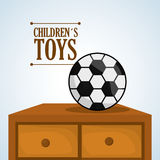 Toy design, childhood and game concept Royalty Free Stock Image