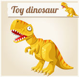 Toy dinosaur. Cartoon vector illustration. Series Stock Image