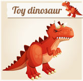 Toy dinosaur 3. Cartoon vector illustration Stock Photography