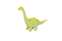 Toy dinosaur. Diplodocus dinosaur toy on isolated background Stock Images