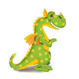 Toy dinosaur in a flower on a white background. Royalty Free Stock Photo