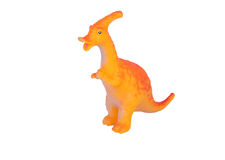Toy dinosaur. Isolated on background stock photo