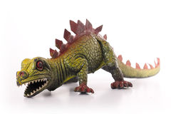 Toy Dinosaur. Stegosaurus dinosaur toy isolated on white background Royalty Free Stock Photos