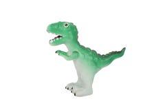 Toy dinosaur. Tyrannosaurus dinosaur toy on isolated background stock photography