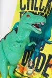 Toy dinosaur tyrannosaurus rex, green Royalty Free Stock Image