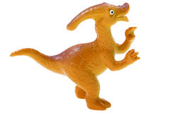Toy dinosaur on white Stock Photos