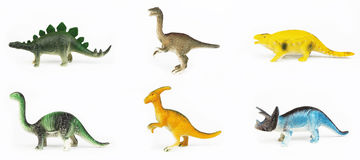 Toy dinosaurs Stock Images