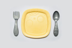 Toy Dish spoon and fork Royalty Free Stock Photo