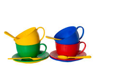 Toy dishes Stock Image