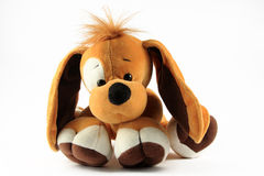 Toy dog. On a white background Royalty Free Stock Image