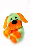 Toy dog. A lovely toy dog is on white background Stock Images