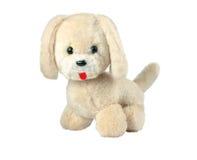 Toy dog. Vintage toy - dog, isolated on white background royalty free stock image